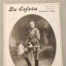 Coleccionismo de Revistas y Periódicos: HOJA REVISTA ORIGINAL 1915. RETRATO REY ALFONSO XIII UNIFORME ARMA DE CABALLERIA, KAULAK. Lote 227582595
