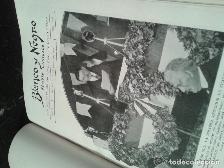 Coleccionismo de Revistas y Periódicos: COLECCION DE REVISTAS ILUSTRADAS BLANCO Y NEGRO TOMOS AÑOS 1932-1933 - Foto 3 - 227617650