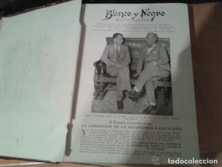 Coleccionismo de Revistas y Periódicos: COLECCION DE REVISTAS ILUSTRADAS BLANCO Y NEGRO TOMOS AÑOS 1932-1933 - Foto 5 - 227617650