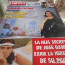 Coleccionismo de Revistas y Periódicos: LA REVISTA - 15-4-1985 - ALASKA 4F 3P - UN DOS TRES 7F 4P. Lote 227687890
