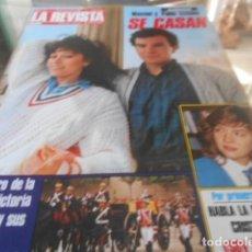 Coleccionismo de Revistas y Periódicos: LA REVISTA - 6-5-1985 - ESTEFANIA DE MONACO 6F - ROCIO JURADO 6F - SYLVIE VARTAN 8F 5P. Lote 227688290