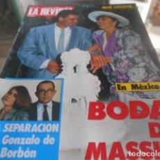 Coleccionismo de Revistas y Periódicos: LA REVISTA - 8-7-1985 . ESTEFANIA DE MONACO 4F 3P. Lote 227689555