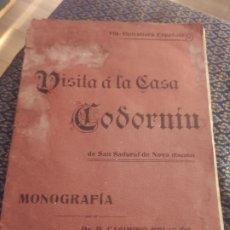 Coleccionismo de Revistas y Periódicos: CODORNIU RAVENTÓS. MONOGRÁFICO . VISITA REAL DE ALFONSO XIII. 1904.. Lote 227777609
