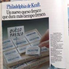 Coleccionismo de Revistas y Periódicos: ANUNCIO QUESO FRESCO PHILADELPHIA. Lote 227783815