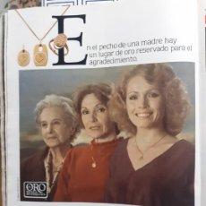 Coleccionismo de Revistas y Periódicos: ANUNCIO LA MEDALLA DE LA MADRE. Lote 227783945