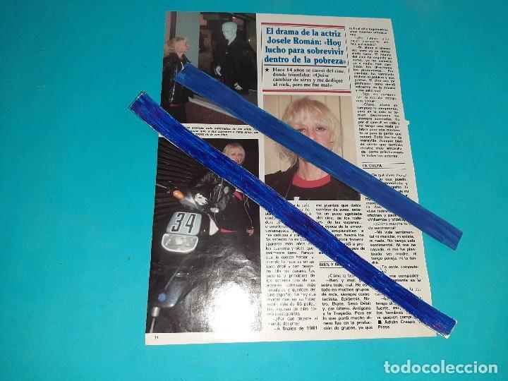 JOSELE ROMAN - LUCHO PARA SOBREVIVIR- ENTREVISTA - 1 PAG.-AÑO 1995- RECORTE REVISTA- (Coleccionismo - Revistas y Periódicos Modernos (a partir de 1.940) - Otros)