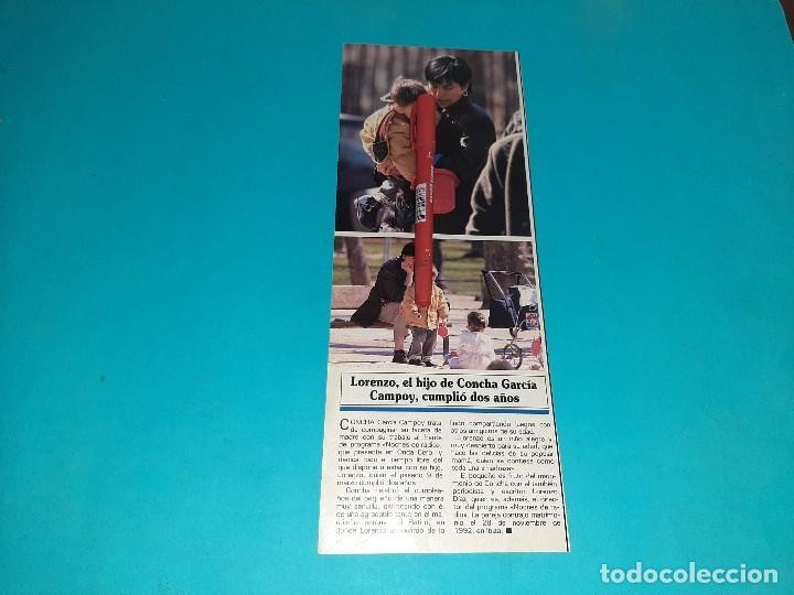 LORENZO HIJO CONCHA GARCIA CAMPOY CUMPLE 2 AÑOS - -AÑO 1995- RECORTE REVISTA- VER DETALLES (Coleccionismo - Revistas y Periódicos Modernos (a partir de 1.940) - Otros)