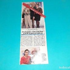 Coleccionismo de Revistas y Periódicos: KETTY KAUFMANN EN BODA EN SEVILLA JUNTO NATI MISTRAL-AÑO 1995- RECORTE REVISTA- VER DETALLES. Lote 227924260