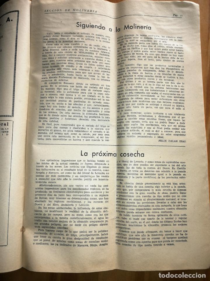 Coleccionismo de Revistas y Periódicos: REVISTA DE LAS INDUSTRIAS DE LA HARINA.MOLINERÍA Y PANADERÌA.JULIO 1955.Nº544. - Foto 2 - 227975135