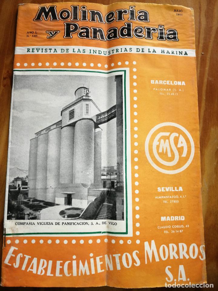 REVISTA DE LAS INDUSTRIAS DE LA HARINA.MOLINERÍA Y PANADERÌA.JULIO 1955.Nº544. (Coleccionismo - Revistas y Periódicos Modernos (a partir de 1.940) - Otros)