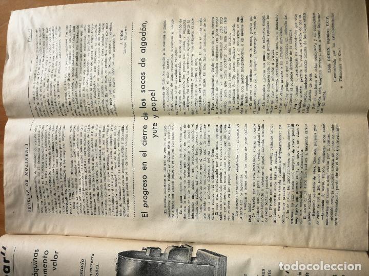 Coleccionismo de Revistas y Periódicos: REVISTA DE LAS INDUSTRIAS DE LA HARINA.MOLINERÍA Y PANADERÌA.AGOSTO 1955.Nº545. - Foto 3 - 227975285