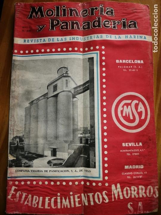REVISTA DE LAS INDUSTRIAS DE LA HARINA.MOLINERÍA Y PANADERÌA.AGOSTO 1955.Nº545. (Coleccionismo - Revistas y Periódicos Modernos (a partir de 1.940) - Otros)