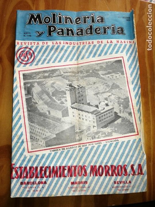REVISTA DE LAS INDUSTRIAS DE LA HARINA.MOLINERÍA Y PANADERÌA.SEPTIEMBRE 1955.Nº546. (Coleccionismo - Revistas y Periódicos Modernos (a partir de 1.940) - Otros)