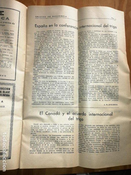 Coleccionismo de Revistas y Periódicos: REVISTA DE LAS INDUSTRIAS DE LA HARINA.MOLINERÍA Y PANADERÌA.NOVIEMBRE 1955.Nº548. - Foto 2 - 227976255
