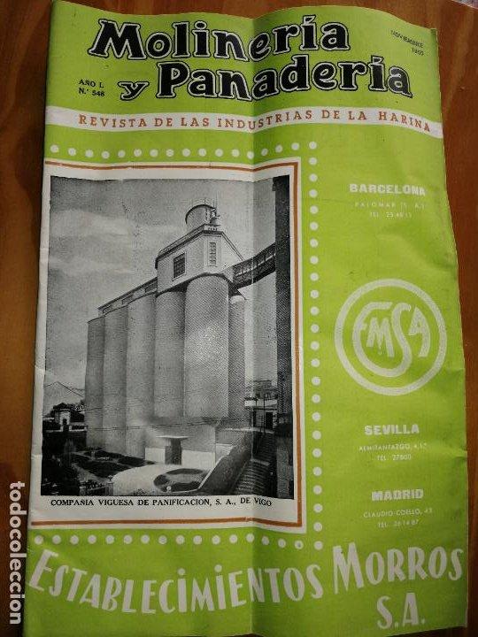 REVISTA DE LAS INDUSTRIAS DE LA HARINA.MOLINERÍA Y PANADERÌA.NOVIEMBRE 1955.Nº548. (Coleccionismo - Revistas y Periódicos Modernos (a partir de 1.940) - Otros)