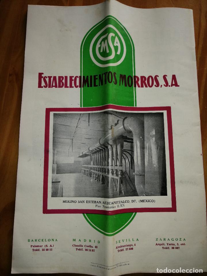 Coleccionismo de Revistas y Periódicos: REVISTA DE LAS INDUSTRIAS DE LA HARINA.MOLINERÍA Y PANADERÌA.AGOSTO 1956.Nº557. - Foto 3 - 227976545