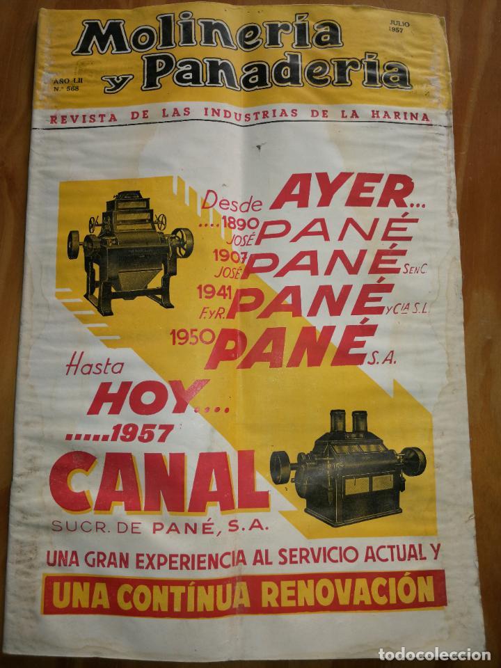 REVISTA DE LAS INDUSTRIAS DE LA HARINA.MOLINERÍA Y PANADERÌA.JULIO 1957.Nº568. (Coleccionismo - Revistas y Periódicos Modernos (a partir de 1.940) - Otros)