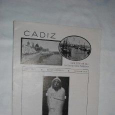 Collectionnisme de Revues et Journaux: CADIZ , REVISTA MENSUAL , 1916. Lote 228181437
