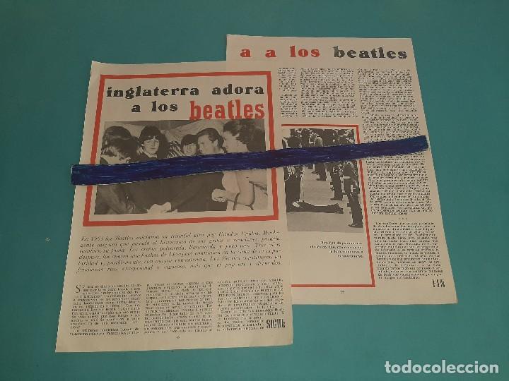 THE BEATLES - INGLATERRA LOS ADORA -ARTICULO - 3 PAG.-AÑO 1966- RECORTE REVISTA- (Coleccionismo - Revistas y Periódicos Modernos (a partir de 1.940) - Otros)