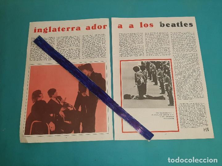 Coleccionismo de Revistas y Periódicos: THE BEATLES - INGLATERRA LOS ADORA -ARTICULO - 3 PAG.-AÑO 1966- RECORTE REVISTA- - Foto 2 - 228198345