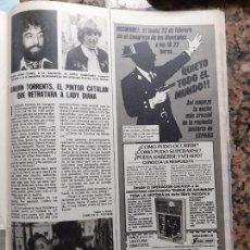 Coleccionismo de Revistas y Periódicos: JOAQUIN TORRENTS PINTA A LADY DI DIANA DE GALES CAROLINA DE MONACO. Lote 228220841