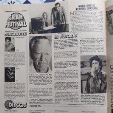 Coleccionismo de Revistas y Periódicos: YIP HARBURG MARIA JIMENEZ JOHN GABILOU VIOLA WILLS COZ VILLAGE PEOPLE PERET. Lote 228220980