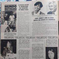 Coleccionismo de Revistas y Periódicos: CAROL BURNETT BERNADETTE DEVLIN ENCARNA SANCHEZ. Lote 228221080