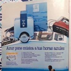Coleccionismo de Revistas y Periódicos: ANUNCIO FRAGANCIA AZUR DE PUIG. Lote 228221180