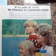 Coleccionismo de Revistas y Periódicos: ANUNCIO CAMOMILA INTEA. Lote 228221285