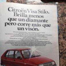 Coleccionismo de Revistas y Periódicos: ANUNCIO CITROEN 83 VISA STILO. Lote 228221365