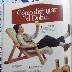 Coleccionismo de Revistas y Periódicos: ANUNCIO WHISKY DOBLE V. Lote 228221405