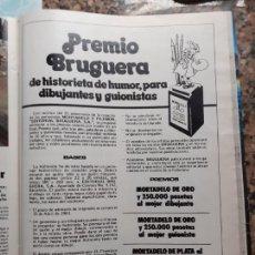 Coleccionismo de Revistas y Periódicos: ANUNCIO CONCURSO PREMIO BRUGUERA. Lote 228221465