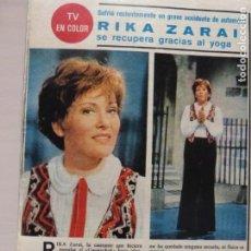 Colecionismo de Revistas e Jornais: RECORTE CLIPPING DE RIKA ZARAI REVISTA SEMANA Nº 1826 PAG. 58 L16. Lote 228422370