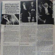 Colecionismo de Revistas e Jornais: RECORTE CLIPPING DE SARA MONTIEL REVISTA SEMANA Nº 1826 PAG. 40 L16. Lote 228423225