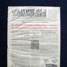 Coleccionismo de Revistas y Periódicos: PERIODICO 221 LA VOZ DEL COMBATIENTE COMISARIOS REPUBLICA EJERCITO 1937 GUERRA CIVIL. Lote 228849851