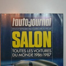 Colecionismo de Revistas e Jornais: L`AUTO JOURNAL SALON 1986- 1987 TODOS LOS COCHES. Lote 228951605