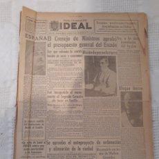 Coleccionismo de Revistas y Periódicos: PERIODICO 1943 . TREMOLACION PENDON GRANADA FRANCO PRESUPUESTOS ESTADO - INVENTOS EXTRAÑOS 1942. Lote 229850260