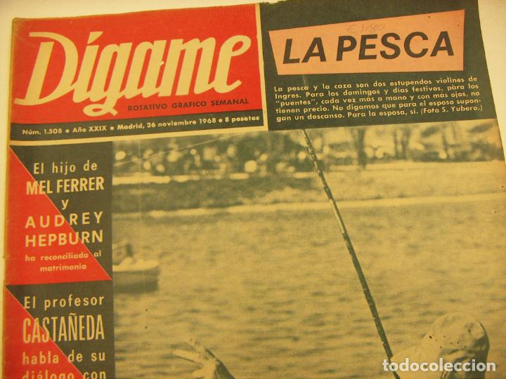 Coleccionismo de Revistas y Periódicos: REVISTA DIGAME Nº 1508, 26 Nov 1968.Pilar Rioja, Arturo Kaps, Eduardini, Audrey Hepburn - Foto 2 - 230237230