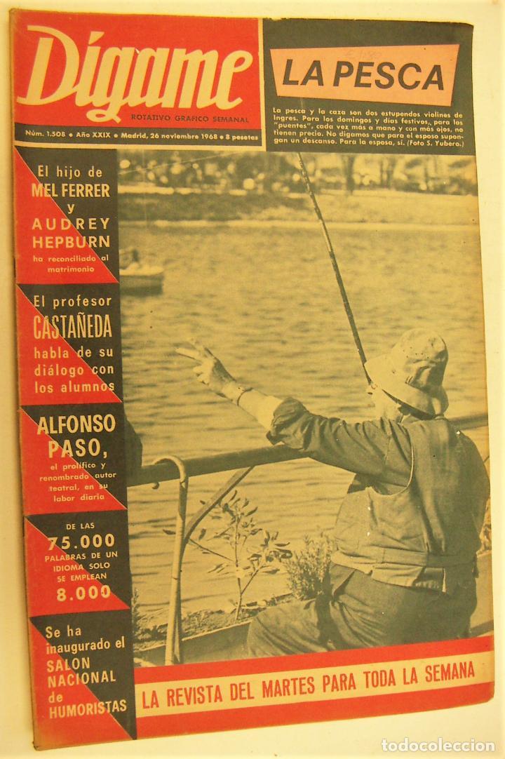 REVISTA DIGAME Nº 1508, 26 NOV 1968.PILAR RIOJA, ARTURO KAPS, EDUARDINI, AUDREY HEPBURN (Coleccionismo - Revistas y Periódicos Modernos (a partir de 1.940) - Otros)