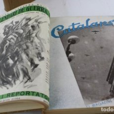 Coleccionismo de Revistas y Periódicos: CATALANS! EL MAGAZINE POPULAR, 1938, 2 TOMOS, J. G. GIVERNAU, BOSCH GIMPERA, BARCELONA. 27X22,5CM. Lote 231165930