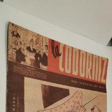 Coleccionismo de Revistas y Periódicos: LA CODORNIZ. 17 DE MAYO DE 1942. 50 AÑOS DE HUMOR. EL INDEPENDIENTE.. Lote 231301785