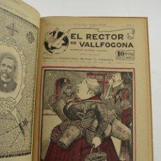 Coleccionismo de Revistas y Periódicos: REVISTA EL RECTOR DE VALLFOGONA, AÑO 1902, DEL NUM. 0 AL 9. SEMANARIO SATÍRICO, BARCELONA. 27X19CM. Lote 231458365