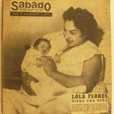 Coleccionismo de Revistas y Periódicos: REVISTA SÁBADO GRÁFICO Nº 84 - MAYO DE 1958 - LOLA FLORES TIENE UNA NIÑA. Lote 231526290