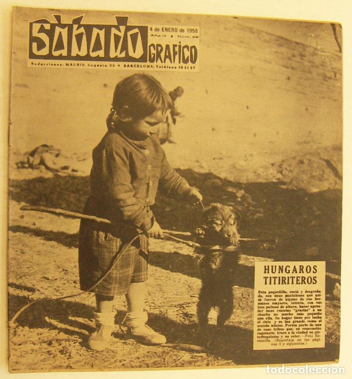 REVISTA SÁBADO GRÁFICO Nº 66 LOLA FLORES BRIGITTE BARDOT ELVIS PRESLEY (Coleccionismo - Revistas y Periódicos Modernos (a partir de 1.940) - Otros)