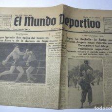 Colecionismo de Revistas e Jornais: PERIÓDICO EL MUNDO DEPORTIVO. AÑOXXXI. Nº5073. 1 DE AGOSTO DE 1936. 4 PÁGINAS. W. Lote 231625190