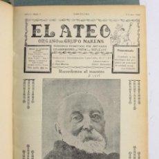 Coleccionismo de Revistas y Periódicos: EL ATEO, ÓRGANO GRUPO NAKENS, REVISTA ATEÍSTA, ANCTICLERICAL Y RADICAL, AÑOS 1932 AL 1936, COMPLETA. Lote 232132330