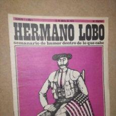 """Coleccionismo de Revistas y Periódicos: REVISTA """"HERMANO LOBO"""", NÚMERO 1 (GENIAL ESTADO) Nº 1 - SEMANARIO DE HUMOR DENTRO DE LO QUE CABE. Lote 232160390"""