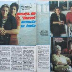 Collectionnisme de Revues et Journaux: RECORTE LA REVISTA Nº 58 1985 AMAYA GRUPO BRAVO 2 PGS. PRÍNCIPE FELIPE DE BORBÓN 4 PGS. ROCIO JURADO. Lote 232420550