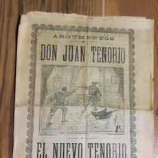 Coleccionismo de Revistas y Periódicos: ANTIGUA REVISTA / FOLLETO DON JUAN TENORIO EL NUEVO TENORIO TEATRO ESPAÑOL AÑOS 20. Lote 232731597