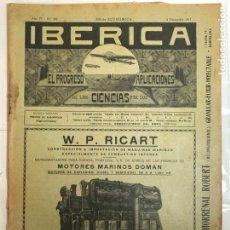 Colecionismo de Revistas e Jornais: IBERICA - EL PROGRESO DE LA CIENCIA Y DE SUS APLICACIONES Nº205, AÑO 1917 - TORTOSA. Lote 232806405